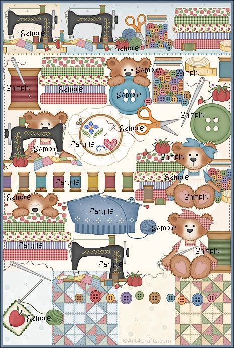 Craft Clipart 38: Sewing