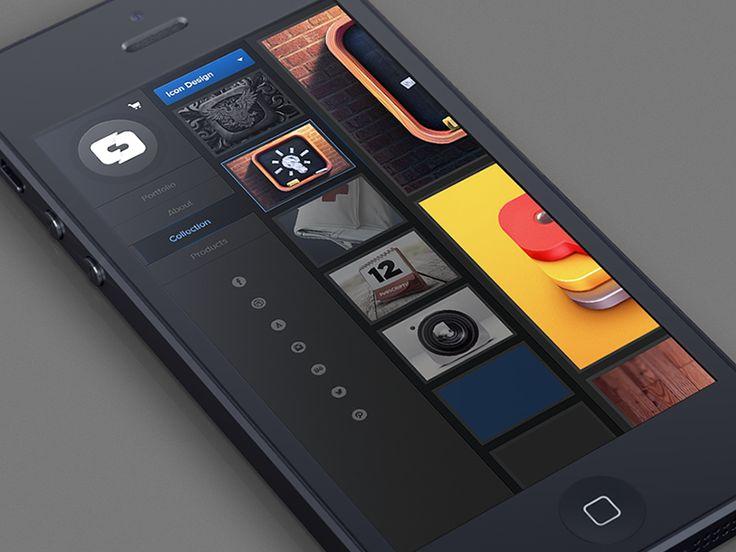 Dribbble - Mobile Portfolio by Dash