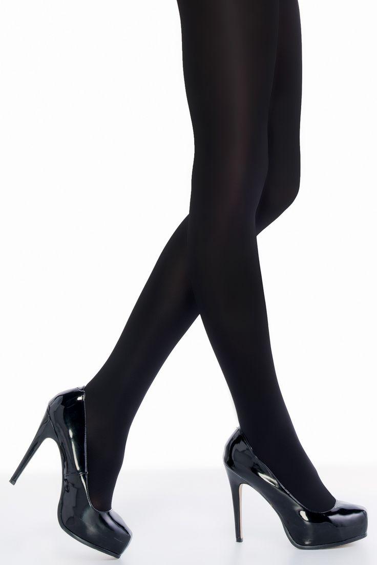 Siyah Islak Görünümlü  Külotlu Çorap Black Wet Look