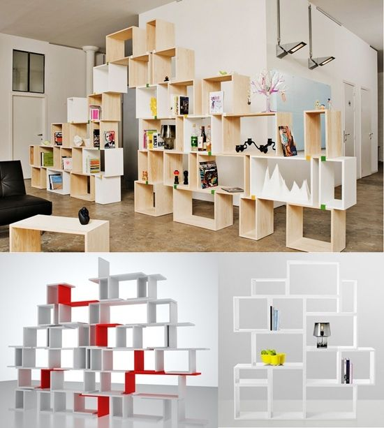 So, imagine this all white, more ornate, with actual bookcases and not cubes.