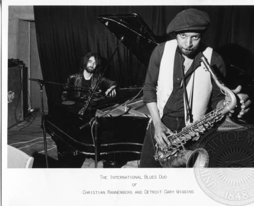 """Detroit"" Gary Wiggins with Christian Rannenberg :: Blues Photograph Collection"