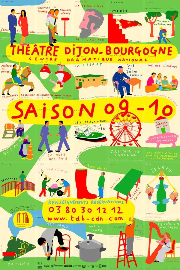 saison 09 10 théâtre dijon bourgogne - affiche Paul Cox