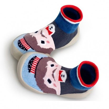 """Slippers """"Magic America - Uncle Sam"""", blue with Uncle Sam, Collégien"""