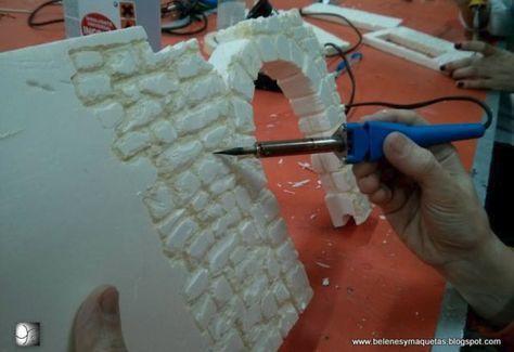 In dieser Schritt-für-Schritt-Anleitung erkläre ich, wie man alte Ziegelmauern für ein m … – Krippenzubehör