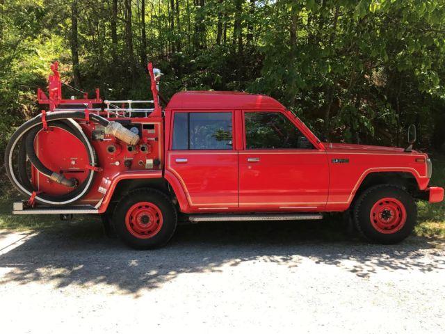 Nissan Safari pickup JDM RHD right hand drive 4 door 4wd 4x4 fire truck 1989