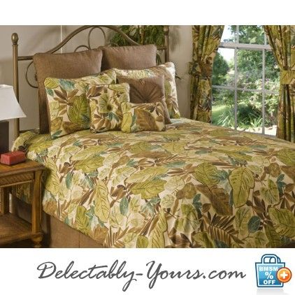 Tropical Bedding | ... -Yours.com Bahia Tropical Bedding Comforter Ensemble & Accessories