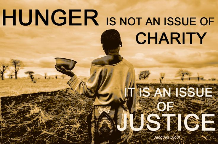 The fight for food justice has to be an issue for all of us! http://www.endinghunger.org/en/educate/food_justice.html