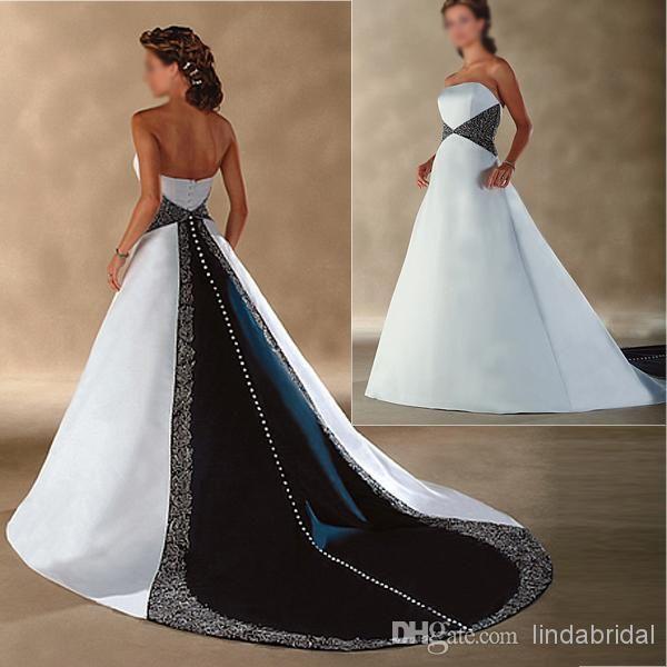 Wholesale A Line Wedding Dresses   Buy Classic Wedding Dress A Line Blue  SATIN