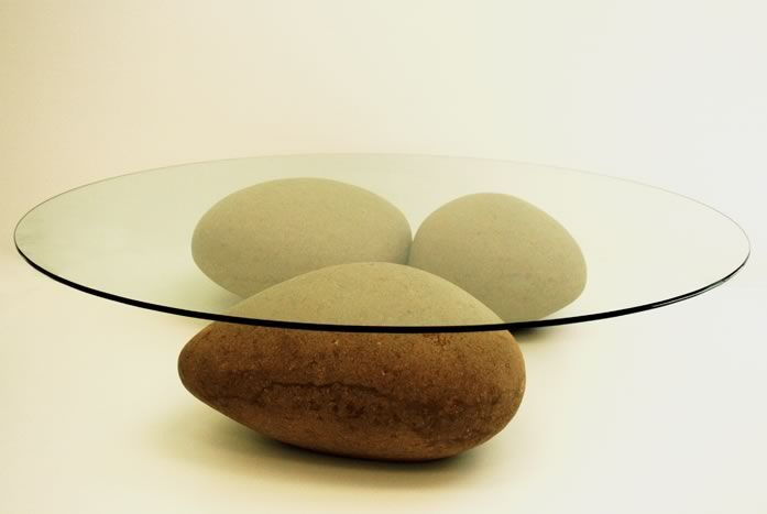 Agua Table (not rocks but recycled cardboard) by Domingos Tótora
