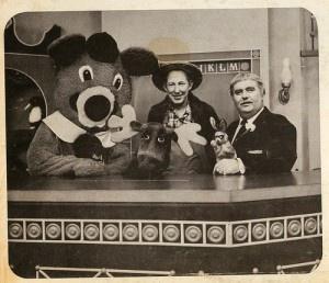 Captain Kangaroo, Mr. Green Jeans, Bun, Dancing Bear and Mr. Moose
