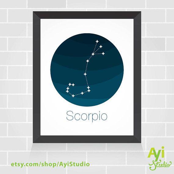 Constellation du Scorpion. Décor imprimable pour par AyiStudio