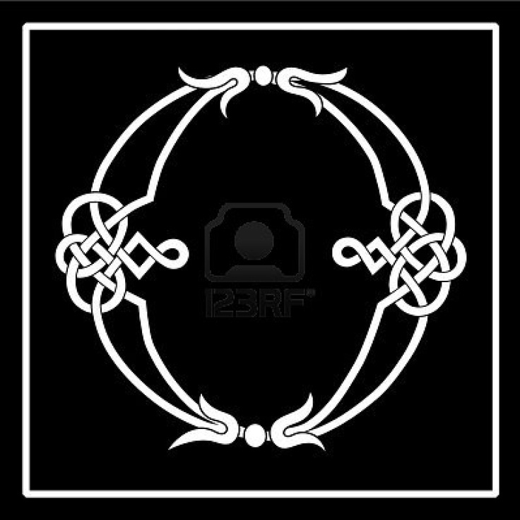 O Celtic knot-work letter