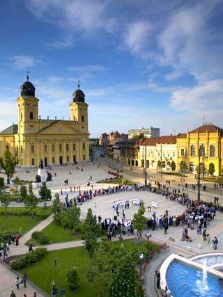kalvin ter square Debrecen Hungary