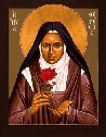 """St. Theresa of the Child Jesus   Patron Saint of Little Flower Parish    """"I sense in myself  the vocation of Warrior,  Priest, Apostle,  Doctor, and Martyr.  In the heart of the Church,  my Mother,  I will be love.""""    --St. Therese"""