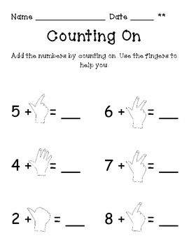 counting on addition strategy worksheets learning addition facts worksheets 1st gradetwo page. Black Bedroom Furniture Sets. Home Design Ideas