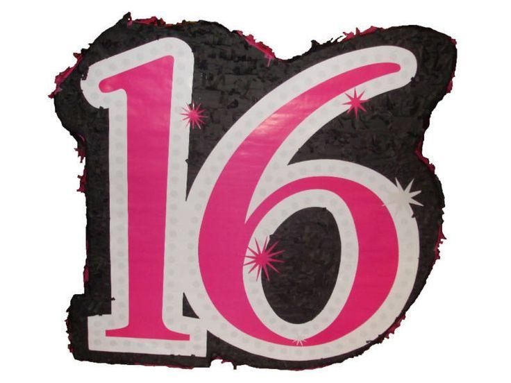 Открытка цифра 16