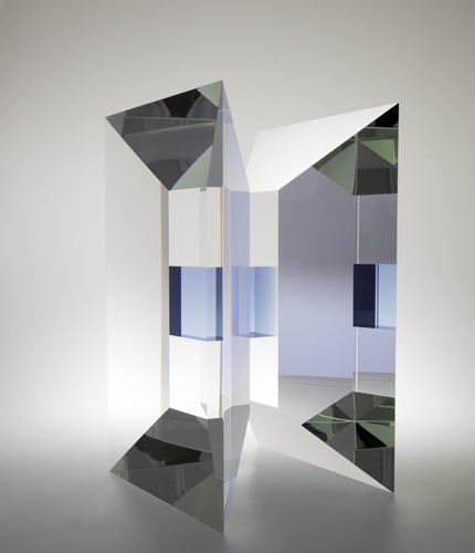 "Vaclav Cigler ""Gateway"",2009.  Optic glass, 26.5x44.5x24 cm  (10.5x17.5x9.5 inches)."