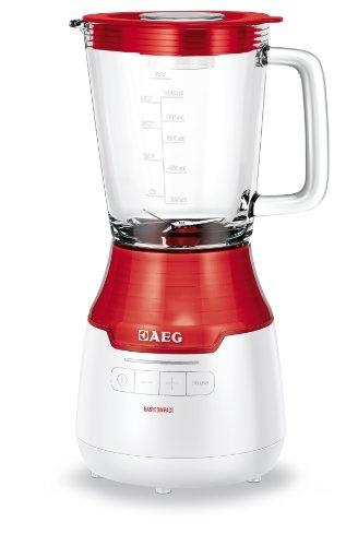 AEG SB 3300 Standmixer EasyCompact / Impuls-Taste für Ice Crush / Vortex-Effekt / Smoothie-Filtereinsatz / 1 Liter Glaskrug