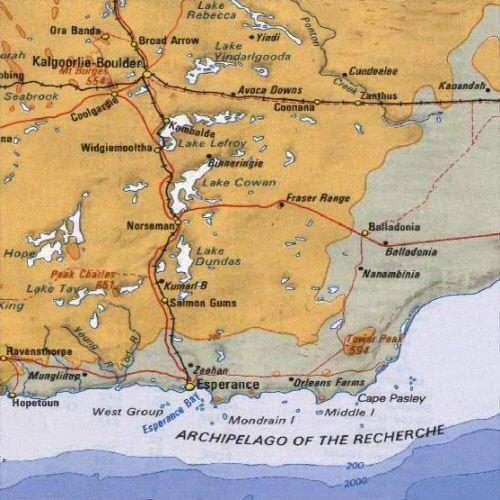 Esperance, Australia | Southern Western Australia Map, including Esperance, Kalgoorlie and ...