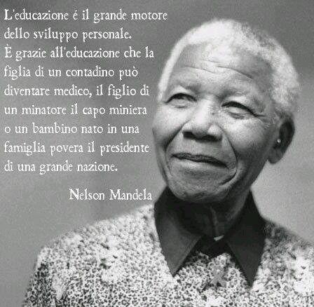 #educazione #frasi #nelsonmandela