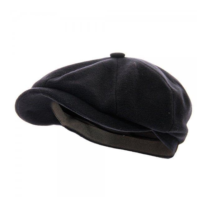 42f7d13c0 Stetson Hats Stetson Hatteras Wool Cashmere Navy Newsboy Cap ...