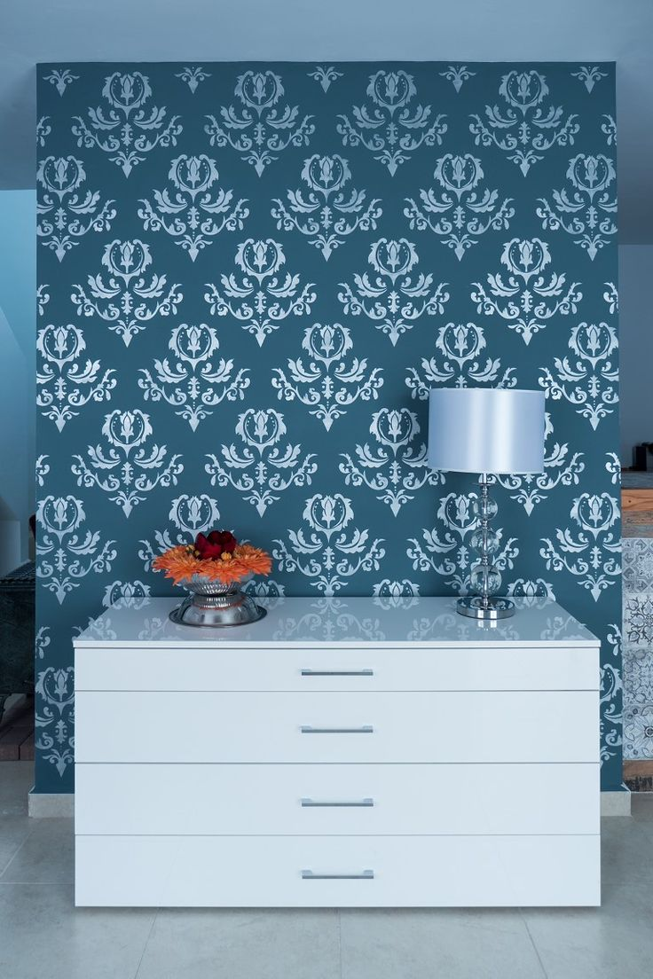 Las 25 mejores ideas sobre patrones de papel tapiz en - Plantillas para pintar paredes ikea ...