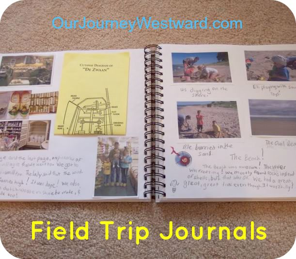 Field Trip Journals: A great way to sneak in writing and save memories.