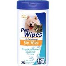 Tropiclean Oxy Med Pet Wipes Ear Wipe (25 ct)