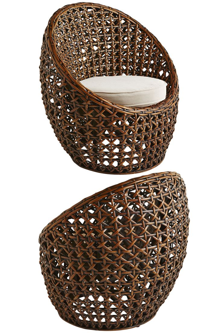 Welcome to your own private hideaway for one. Hand-woven of natural rattan in an enlarged bird's-eye pattern, Pier 1's Zafira Tub Chair is like a big, warm hug--with a global vibe. It's perfectly styled to accommodate any Pier 1 round seat cushion (sold separately). Get wrapped up in one.