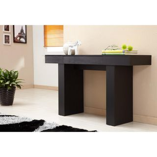 Furniture of america perry modern black finish sofa table for Furniture of america danbury modern