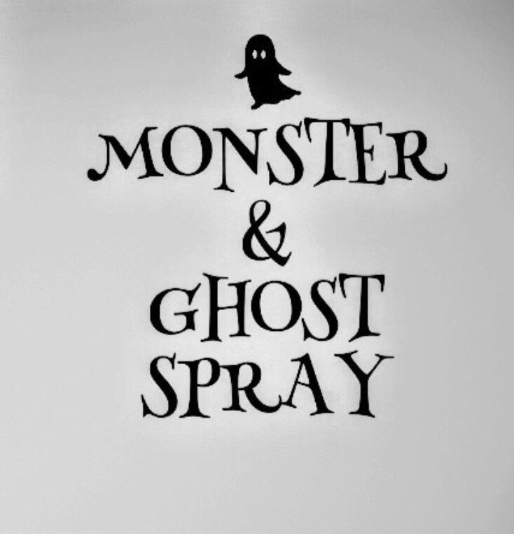 Monster Spray Repellant Sticker Decal Label Kids Fun  | eBay
