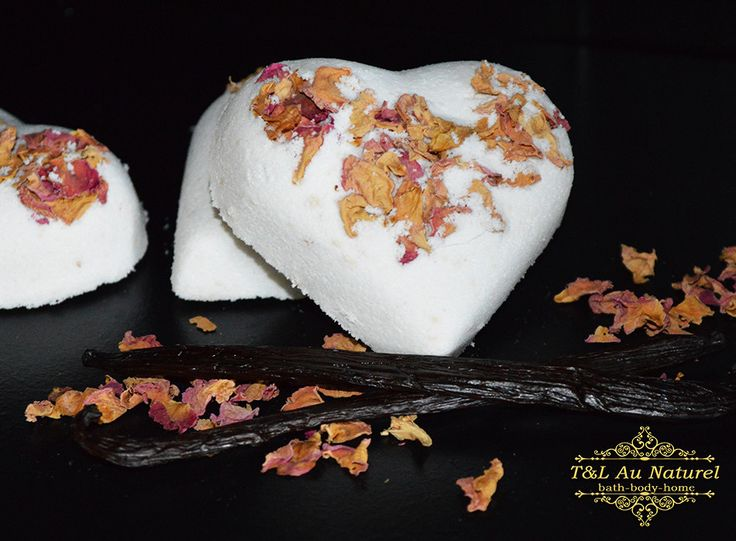 These are our most beautiful & romantic bath bombs made with organic rose petals and scented with Vanilla & Rose Geranium essential oils.  Not only do they smell delicious & make bath time fun, but they also have a little bit of Shea Butter added for silky soft skin!  Amazing scent of Rose Geranium with a hint of Vanilla