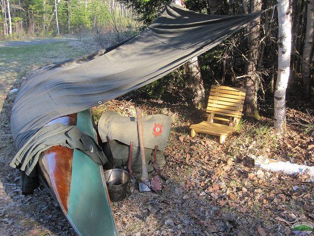 Traditional Canoe Shelter.