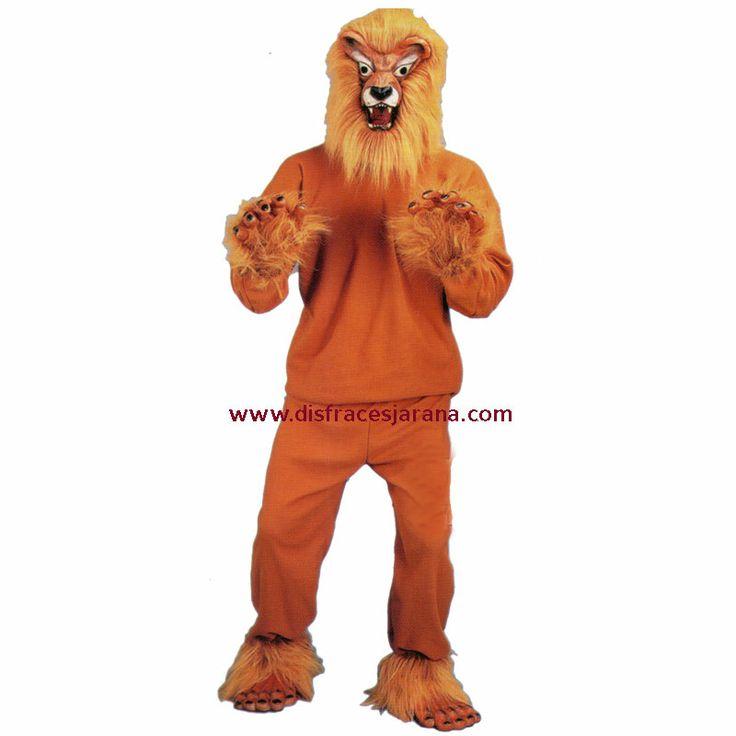 Disfraz del rey de la selva, todo incluído.Disfraz de venta exclusiva