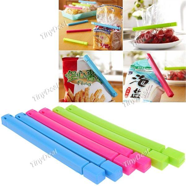 6pcs Plastic Vacuum Sealing Clamps Food Sealed ClipsBag Sealers Household Item - Assorted Color HKI-216129