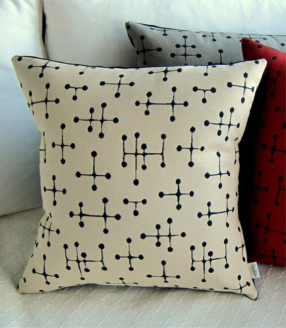 Retro Throw Pillow Classic Eames Small Dot by atomiclivinhome, $68.00 Mid-Century Modern ...