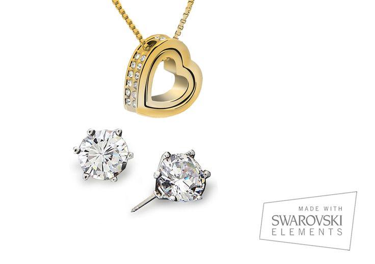 Conjunto Eternity en #oro combinado con #swarovskicrystals http://ow.ly/z7ytb