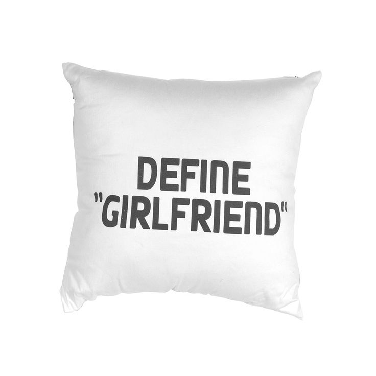"Scottie & Russell ""Define Girlfriend"" Cushion £5.30 Free delivery on orders over £25.00"