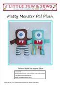 Matty Monster Pal Plush Sewing Pattern PDF