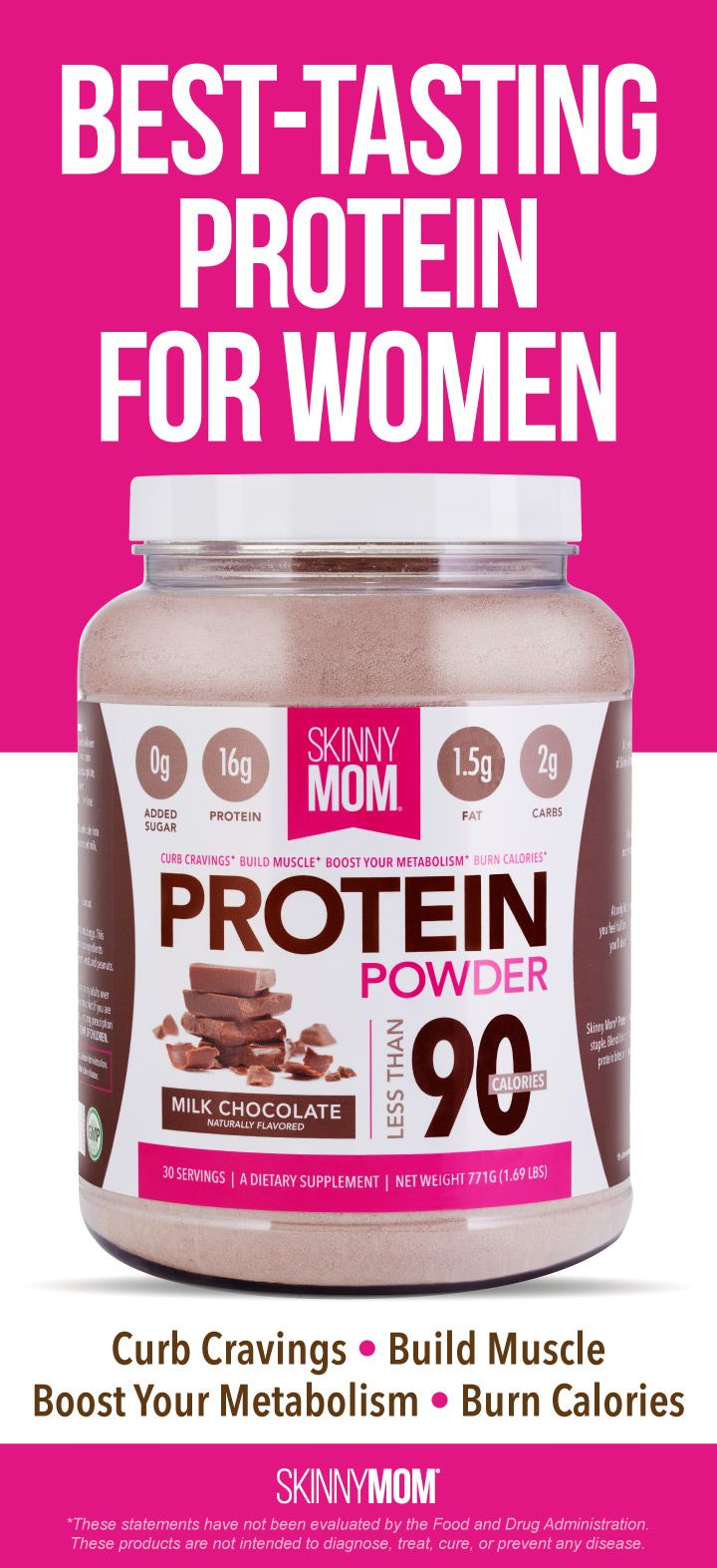 The best-tasting protein powder for women. Curb your cravings cravings, build lean muscle, boost your metabolism, and lose weight!
