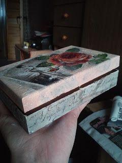 Świeczki handmade: Decoupage'owe pudełeczka na różności