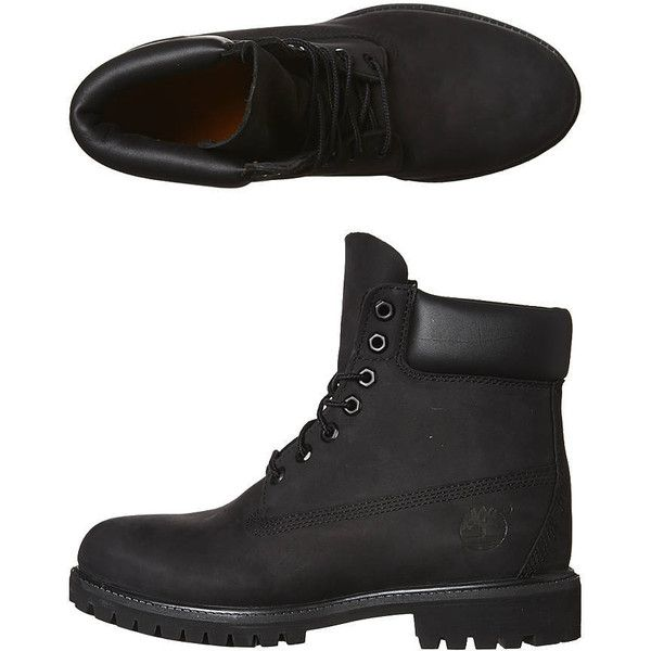 Timberland Icon Premium Leather Boot (280 AUD) ❤ liked on Polyvore featuring men's fashion, men's shoes, men's boots, black, boots, footwear, mens footwear, mens water proof boots, mens black shoes and mens rugged shoes