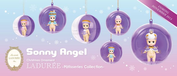 Sonny Angel Christmas Ornament Ladurée Pâtisserie Collection 1 bauble - Genuine