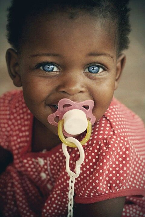 Black Baby With Brown Eyes