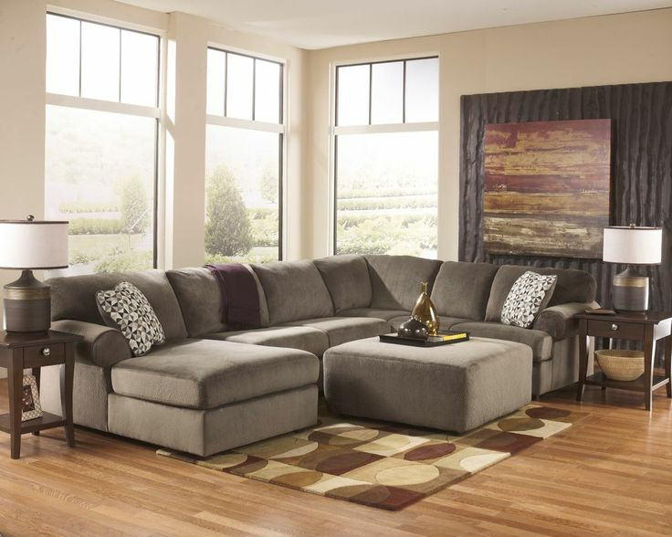 Ashley Jessa Place Dune Sand Contemporary Plush Sofa