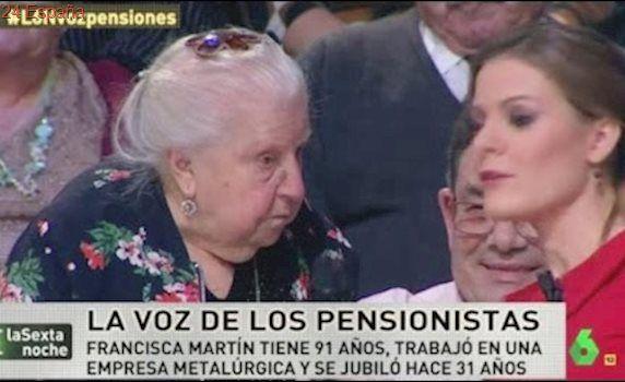 Paquita la pensionista,Tengo 91 años pero no soy gilipollas - La sexta noche¨´ 14 - 1 - 2017