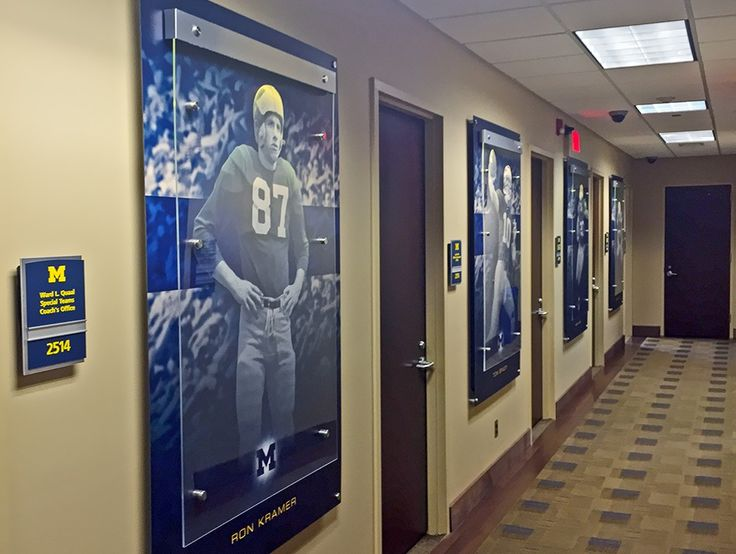 Inside the Hall, Paragon Display was responsible for nearly all the wall decor found in the team rooms and hallways that UM Football calls their home.
