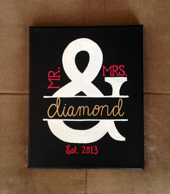 Hey, I found this really awesome Etsy listing at https://www.etsy.com/listing/183333638/mr-mrs-painting