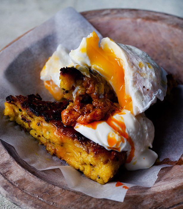 Delicious new vegetarian recipes from Yotam Ottolenghi | Stylist Magazine Fried Upma and poached egg
