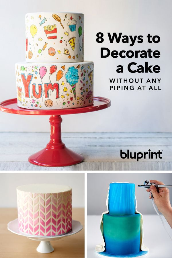 8 Ways To Decorate A Cake Without Any Piping At All With Images